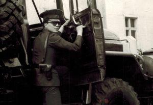 Старая фотография военного на урале