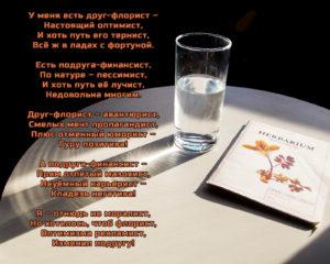 Стих с картинкой оптимист и пессимист