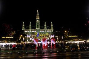 Рождественский рынок в Вене
